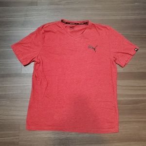 PUMA Dry Cell Technology Red Short Sleeve Tshirt